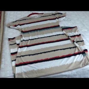 Lularoe maria maxi dress xs stripe red